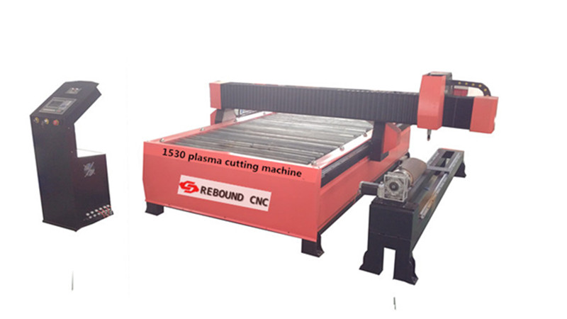 Steel/iron plate and pipe plasma cutting machine with USA hypertherm power